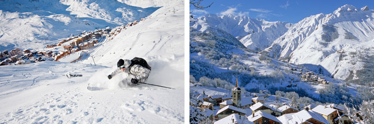 French alps ski resorts - 3 valleys