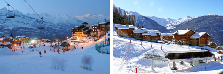 French alps ski resorts - paradiski