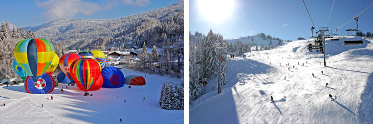 French alps ski resorts - grand massif