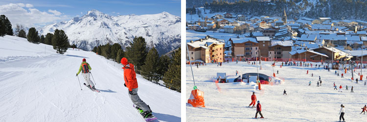 French alps ski resorts - maurienne valley