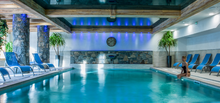 Chalets de Layssia indoor pool Samoens